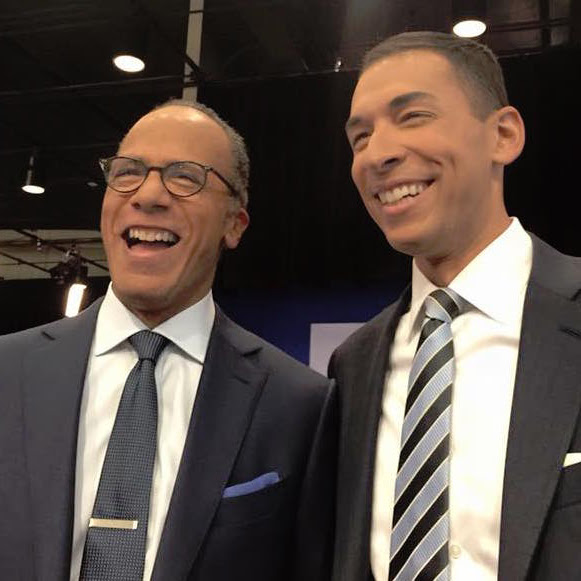 Mixed Ethnicity Lester Holt And Son Stefan Holt In Nbc News