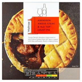 Waitrose 1 Aberdeen angus steak & ale top crust pie - Waitrose