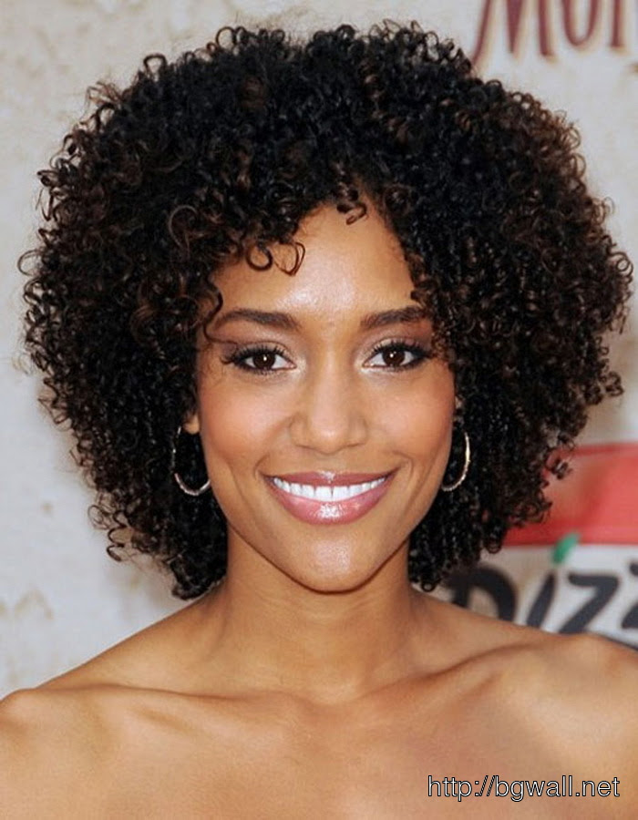 Short Curly Hairstyle Ideas For Black Women For Round Face ...