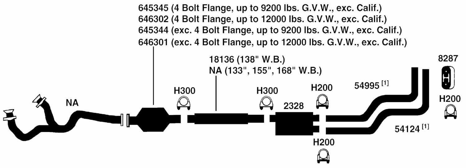 FORD PICKUP F350 Exhaust Diagram from Best Value Auto Parts