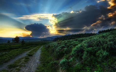 beautiful nature sky road sun wallpapers beautiful