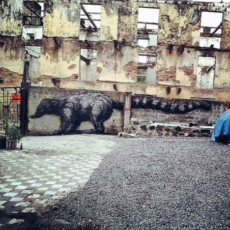 ROA Panama City Street Art 4