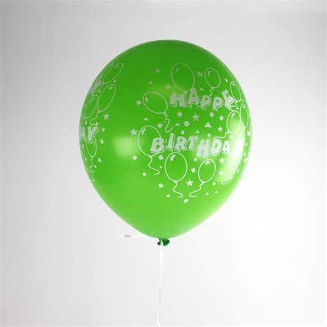 Lime Green Happy Birthday Inflated Balloon   Partyspot