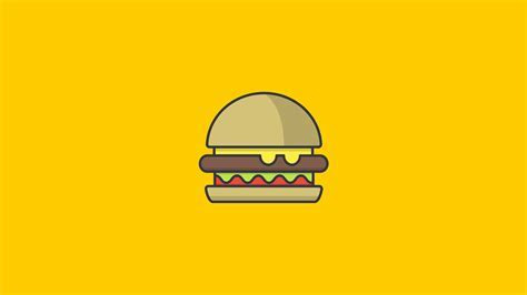 Burger Minimalism, HD Artist, 4k Wallpapers, Images