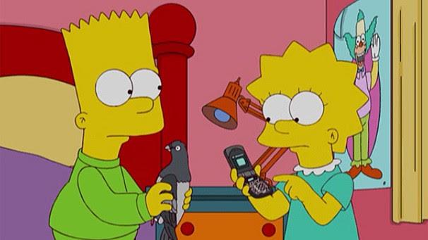Os Simpsons - Bart adota pombo que atravessa janela da sua casa (Foto: Divulgação / Twentieth Century Fox)