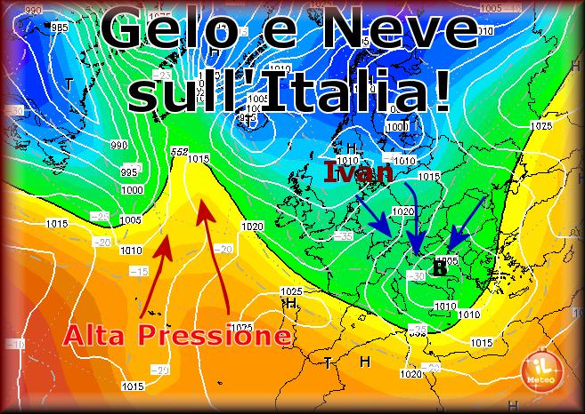 GELO e NEVE sull'Italia: sciabolata artica, arriva il Terribile ciclone Ivan!