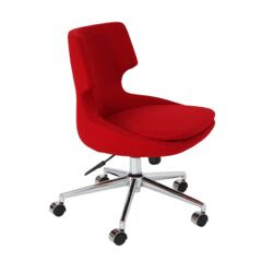 Desk Chairs Metallic With Upholstered Red Room Interiors