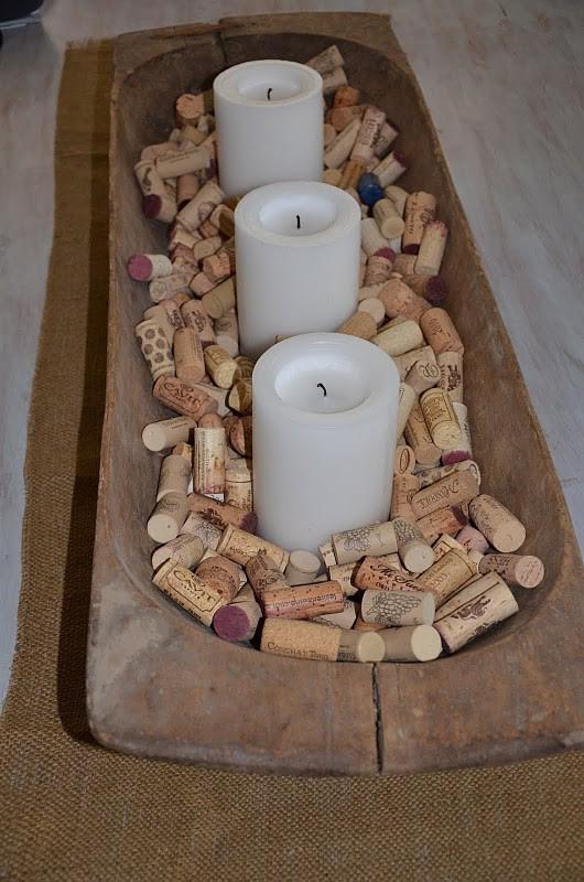 reciclar-tapones-de-corcho-centro-mesa