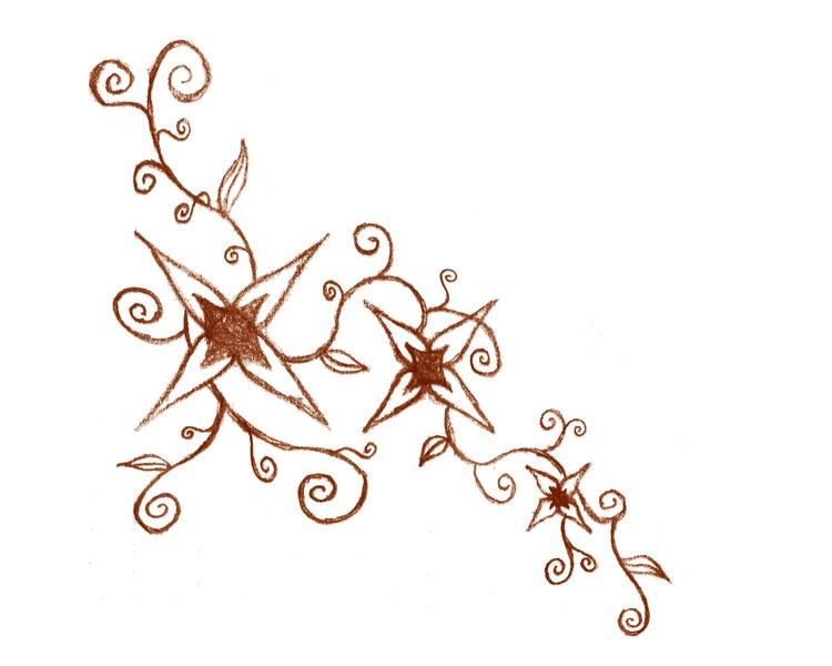 ...Flower-Vine Henna Design... - flower tattoo