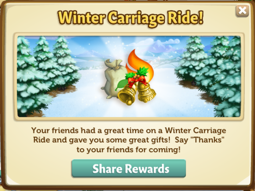 Winter Carriage Ride - FarmVille 2