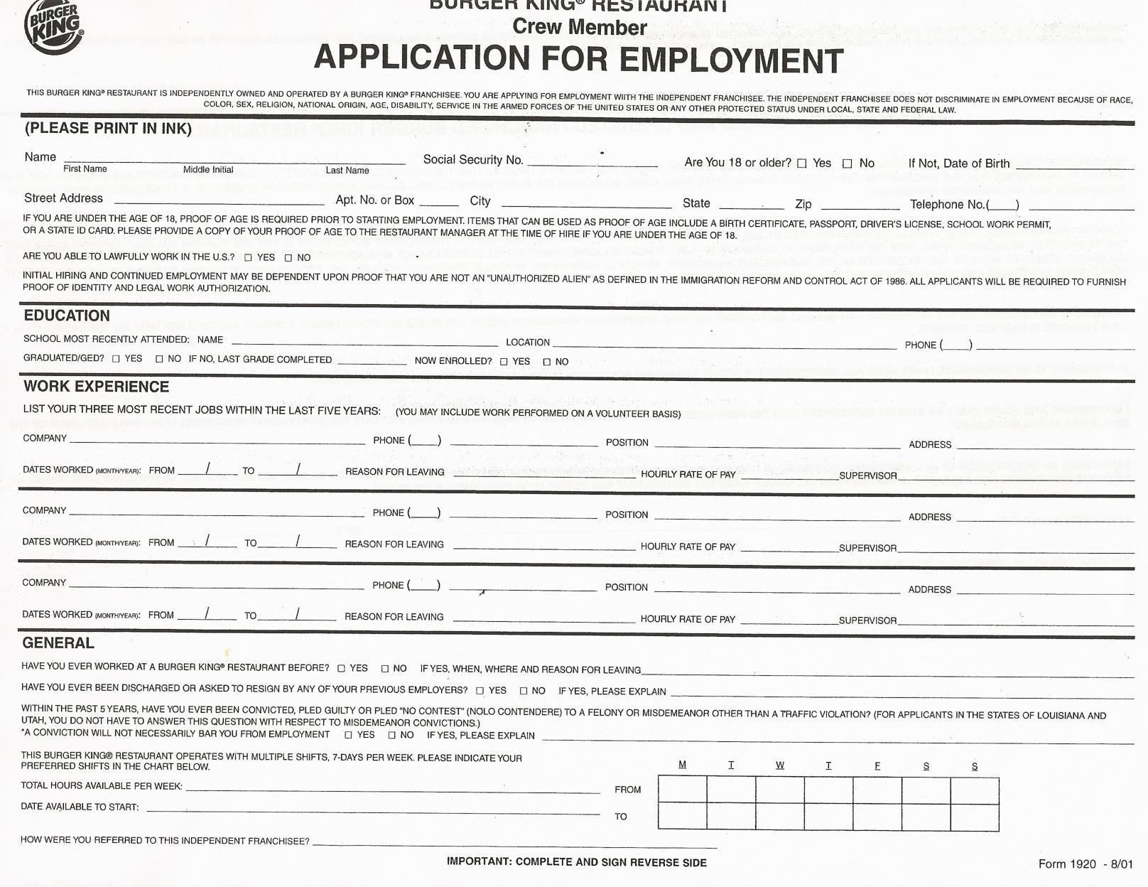 1000+ ideas about Printable Job Applications on Pinterest ...