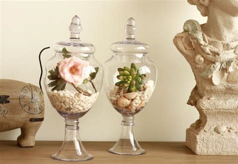 American Retro Transparent Tall Glass Vase Decoration