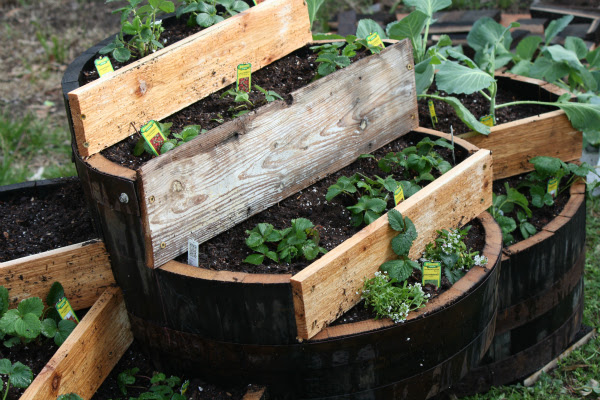 Tiered Whiskey Barrel Strawberry Planter Diy