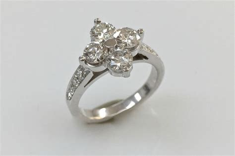 North South East West Ring Diamond Ring Setting