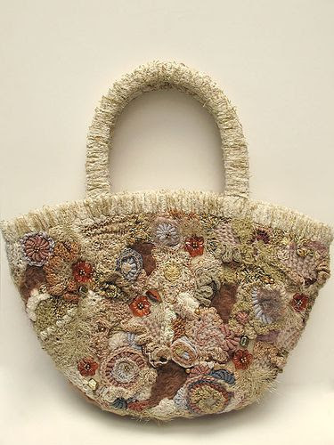 this is another of my bags; this time, repinned from jenny nijman's 'freeform' pinboard  - freeform bag by Prudence