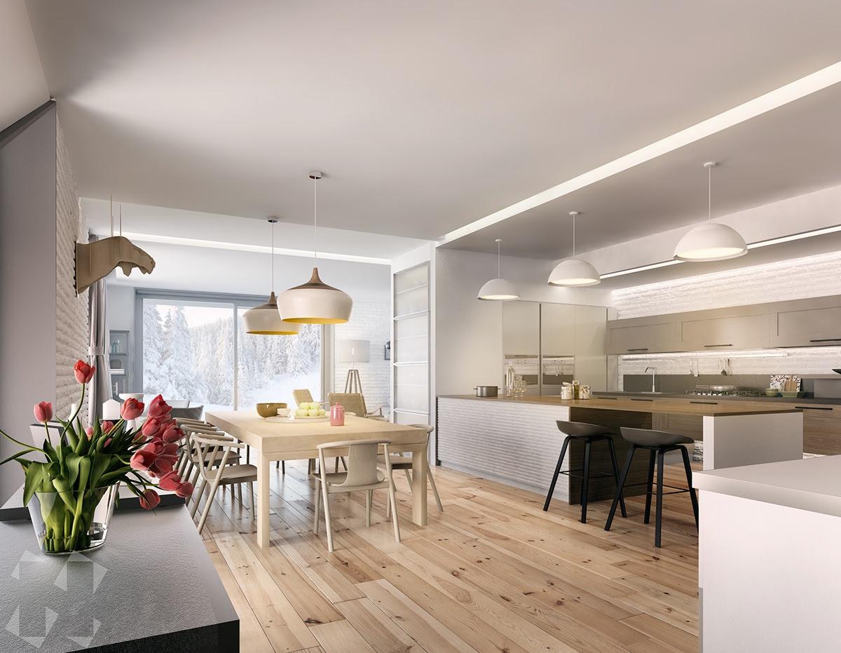 Dining Room Light Hardwood Floors With Dark Furniture Homedecorations