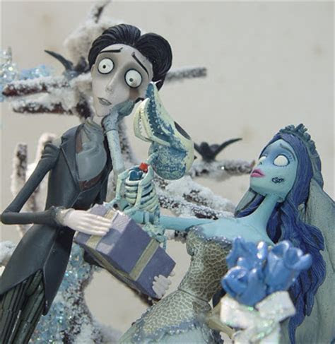 My Unique Custom Creations: CORPSE BRIDE WEDDING CAKE TOPPERS