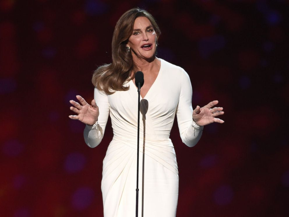 PHOTO: Caitlyn Jenner accepts the Arthur Ashe award for courage at the ESPY Awards at the Microsoft Theater on Wednesday, July 15, 2015, in Los Angeles.