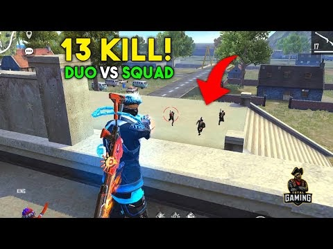 AWM and Kar98k Duo vs Squad OverPower Must Watch Gameplay - Garena Free Fire