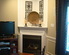 Need help decorating a large, deep corner fireplace mantel - Houzz
