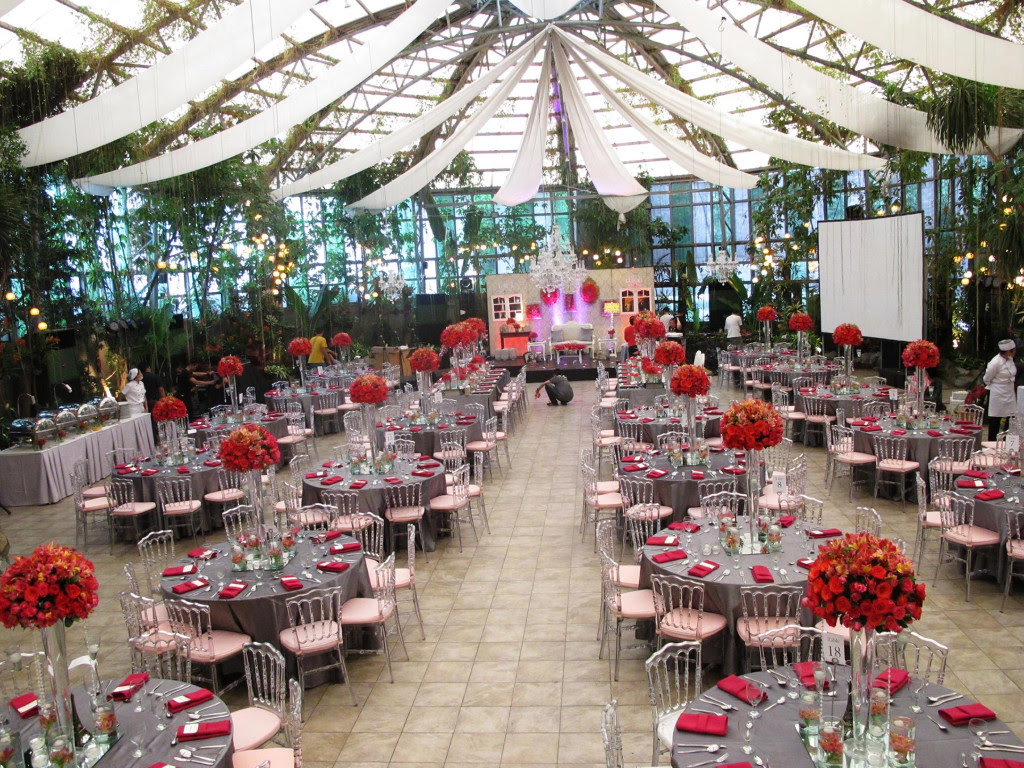 A Dramatic Red and Silver Themed Wedding The Glass Garden  The Destination Events Venue in