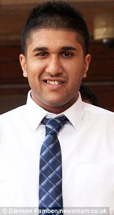Accused: Mohammed Islam Choudhrey (L) and Noshad Hussain are among the defendants facing trial at Stafford Crown Court