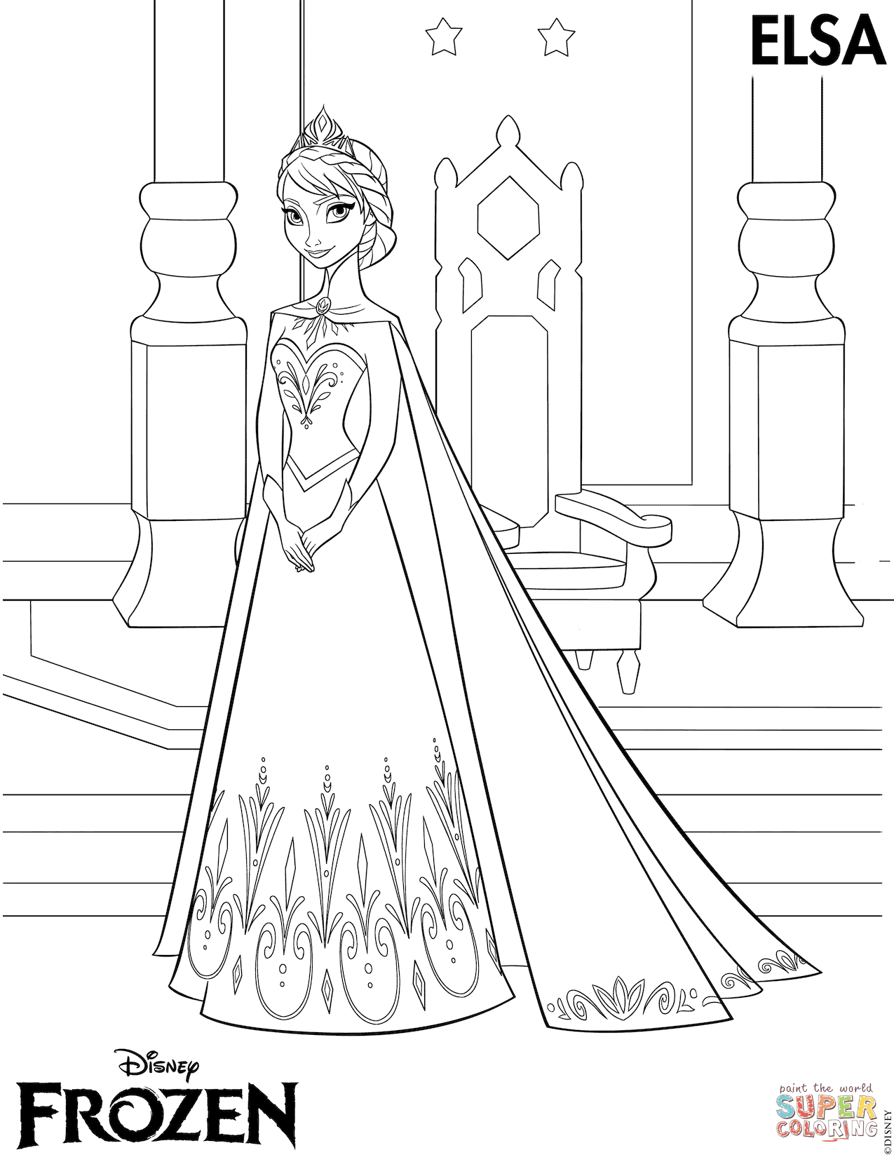 740 Frozen Coloring Pages Pdf Download For Free