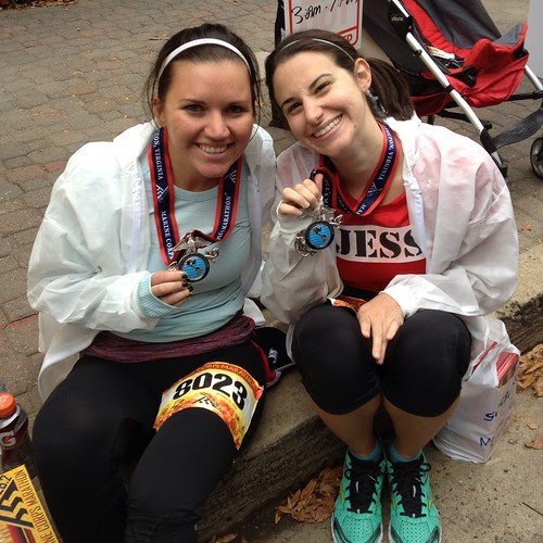 Jess and Megan post race
