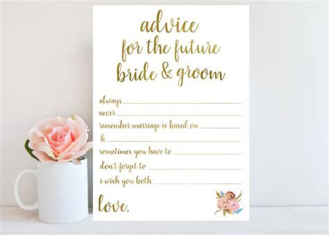 Advice for the Bride and Groom, Bridal Shower Game