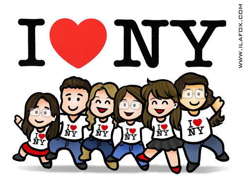 Viagem NY em família, viajando pra NY, ilustração by ila fox