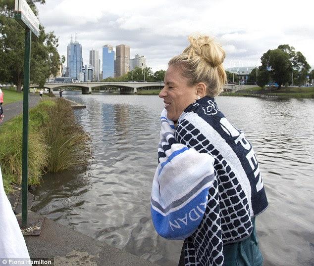Kerber isn't the first Australian Open winner to jump into the Yarra