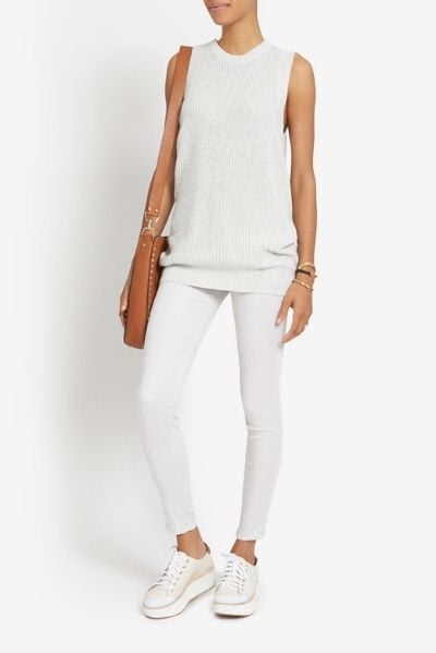 Exclusive for Intermix Cotton/ Cashmere Tunic Sweater