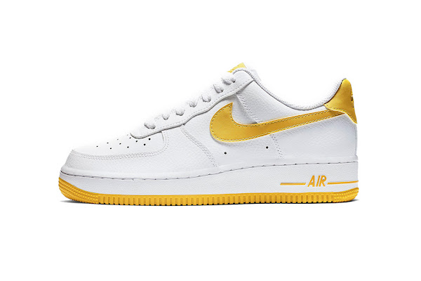 new style 3422e a8e43 Nike Air Force 1 to Release in Bright Mix of White and Yellow