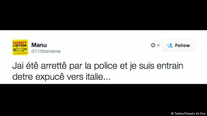 Screenshot Twitter Tweets de Rue Paris