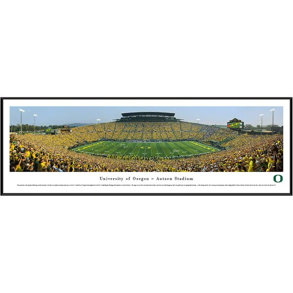 Oregon Ducks 13 X 40 Stadium Standard Frame Panorama Official