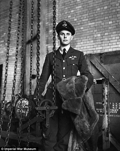 Dressed to impress: Smartly-dressed Flight Lieutenant David Donaldson of No 149 squadron RAF poses for a Beaton portrait, while right, a wren serving with the crew of a harbour launch in Portsmouth, 1941