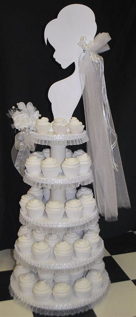 Wedding Cupcake Tower   Bridal Shower Ideas   Pinterest