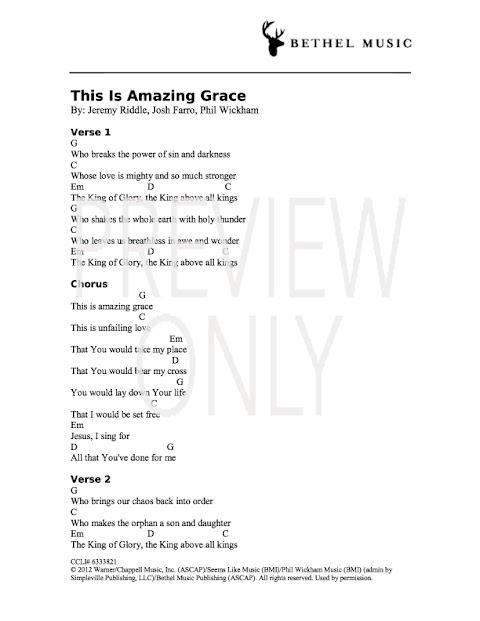 This Is Amazing Grace Lyrics And Chords Pdf