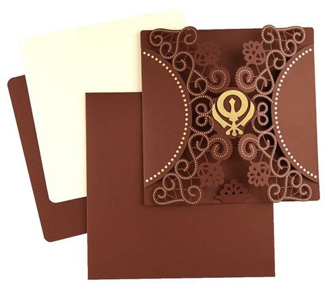 Sikh Wedding Cards   Modern Sikh Wedding Cards Delhi, India