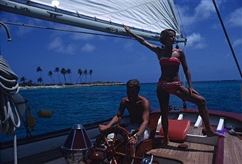 A sailing holiday in the Bahamas, May 1967. (Photo by Slim Aarons)