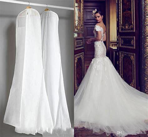 Cheap Wedding Dress Gown Bags White Dust Bag Travel