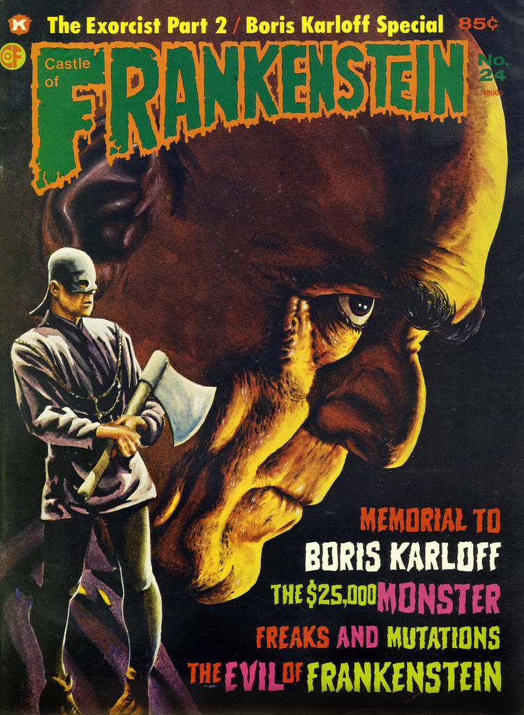 Castle Of Frankenstein, Issue 24 (1974) Cover Art by Tom Maher
