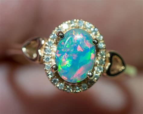 Solid Gem Semi Black Opal 14k Solid Rose Gold Engagement