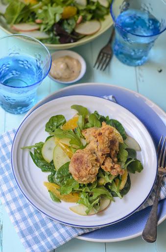 Soft Shelled Crabs Salad