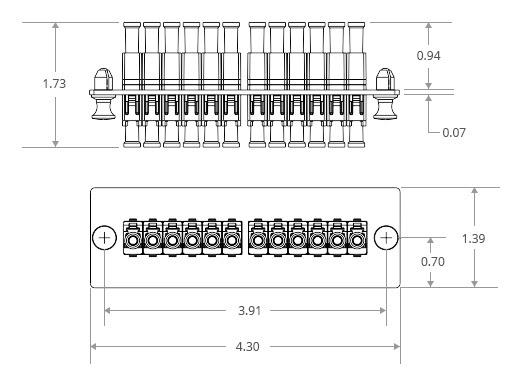 LC Panduit Opticom Compatible Fiber Adapter Panels(FAPs)