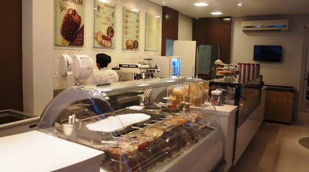 Parte de dentro da sorveteria (Foto: Divulgação)
