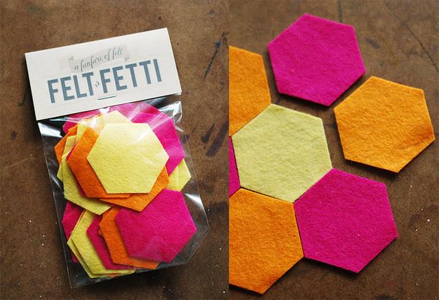 Today:Felt Hexagons