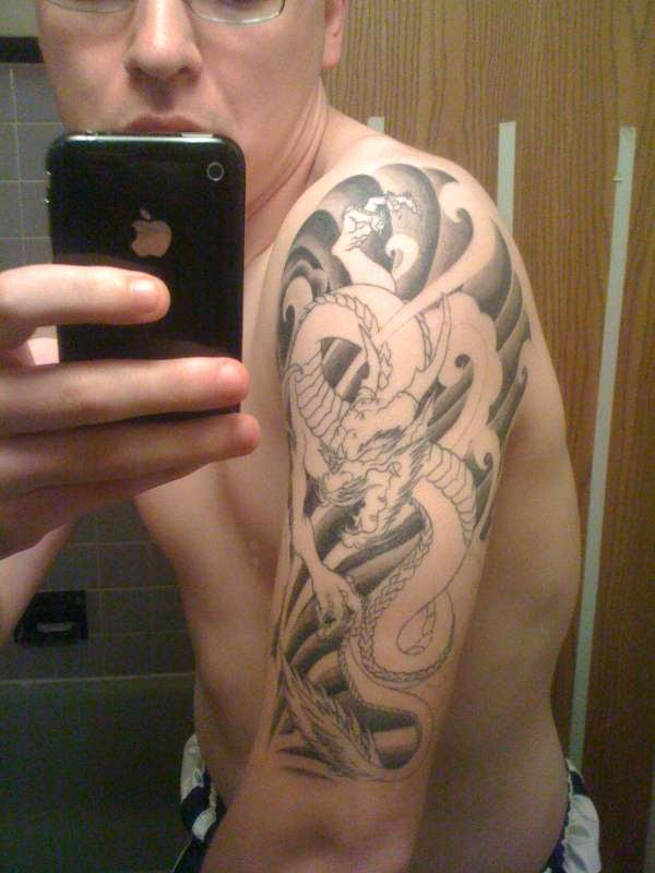 Japanese Dragon Half Sleeve Tattoo