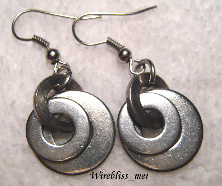 Stainless steel washers earrings