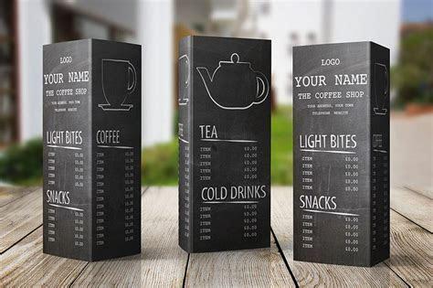 Free menu design template